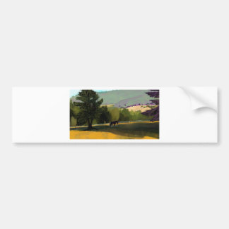 HORSES IN FIELD BUMPER STICKER