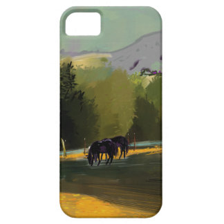 HORSES IN FIELD iPhone 5 CASE