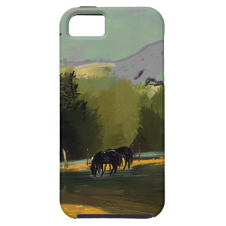 HORSES IN FIELD iPhone 5 COVER