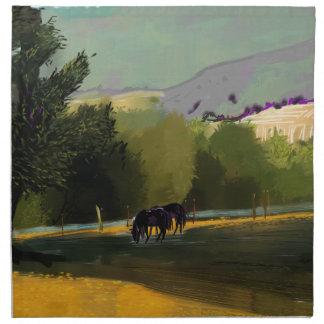 HORSES IN FIELD NAPKINS