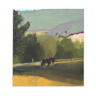 HORSES IN FIELD NOTEPAD