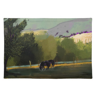 HORSES IN FIELD PLACEMAT