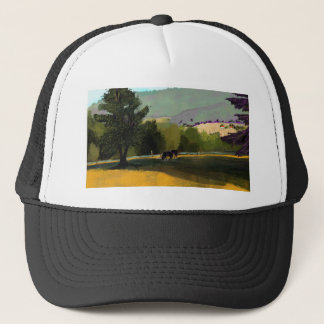 HORSES IN FIELD TRUCKER HAT