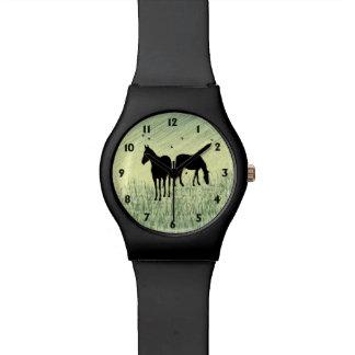 Horses in Field Watch