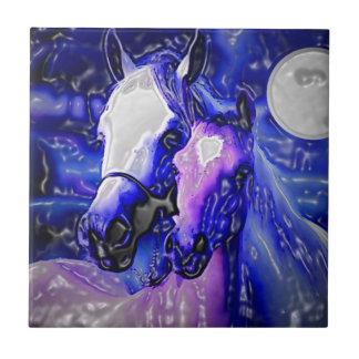 Horses in Love Ceramic Tile