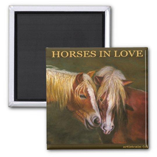 HORSES IN LOVE MAGNET
