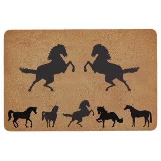 HORSES IN SILHOUETTE FLOOR MAT