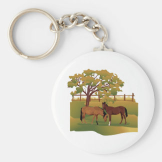 Horses in the Pasture Key Ring