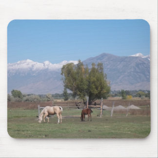 Horses In The Pasture Mouse Pad