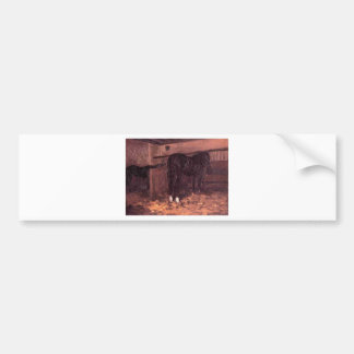 Horses in the Stable by Gustave Caillebotte Bumper Sticker
