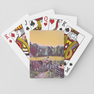 Horses in the Valley Playing Cards