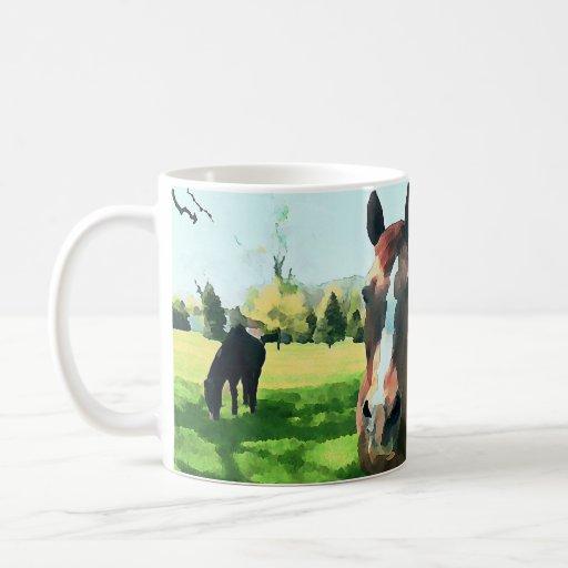 Horses in Watercolor Mug