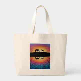 horses jumbo tote bag