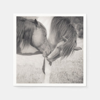 Horses Kissing Paper Napkins