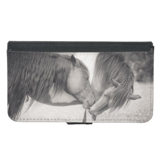 Horses Kissing Wallet Phone Case