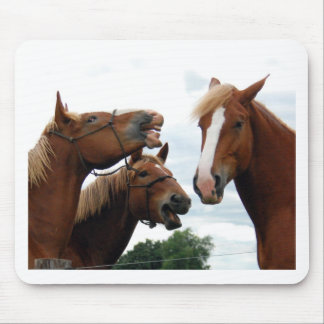 Horses laughing mouse pad