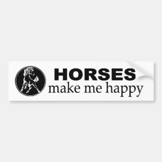 Horses make me Happy. Decal for equestrians.