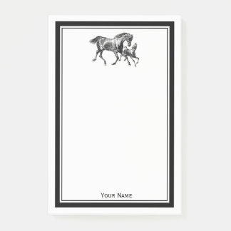 Horses Mother Baby Foal Framed Post-it Notes