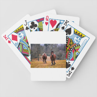 Horses Nature Bicycle Playing Cards