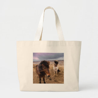 Horses of Iceland Large Tote Bag