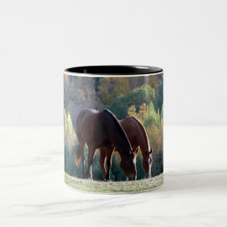 Horses on a coffee mug