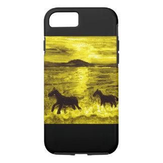 Horses on a Golden Seashore iPhone 7 Case