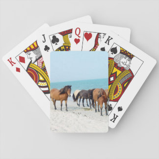 Horses on Assateague National Seashore Playing Cards