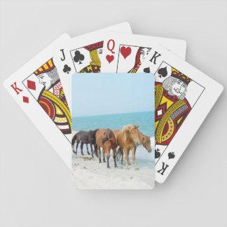 Horses on Assateague National Seashore Poker Deck