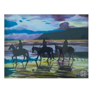 Horses on Waterfoot Beach by Joanne Casey Postcard