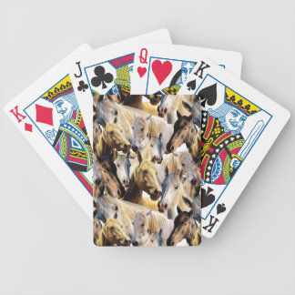 Horses pattern bicycle playing cards