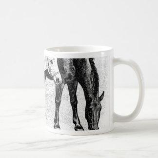 horses,pencil drawn mug