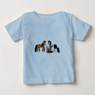 Horses Playing Baby T-Shirt
