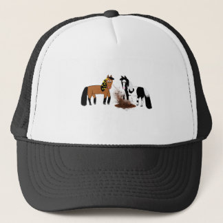 Horses Playing Trucker Hat