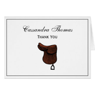 Horses - Preppy Equestrian Tack Saddle Color Card