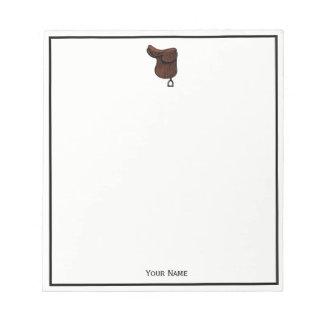 Horses - Preppy Equestrian Tack Saddle Color Notepad