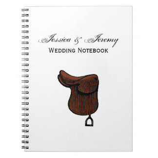 Horses - Preppy Equestrian Tack Saddle Color Spiral Notebook
