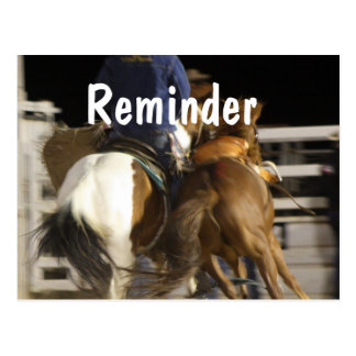 Horses professional appointment reminder card postcard