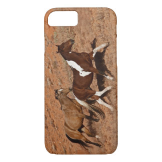 Horses roaming the Big Horn MT of Shell Wyoming. iPhone 7 Case