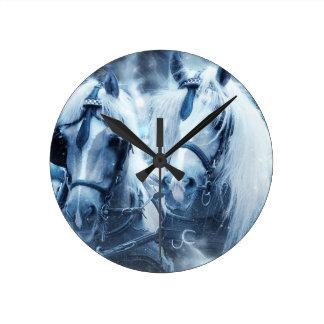 horses round clock