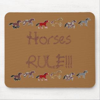 Horses RULE Mouse Mats