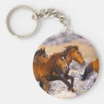 Horses running keychain