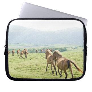 Horses running laptop sleeve