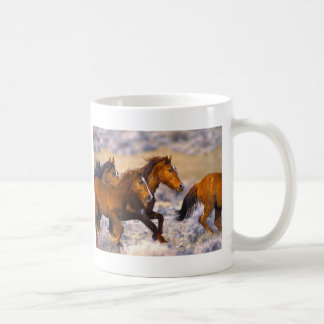Horses running coffee mugs