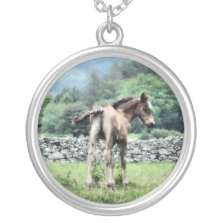 HORSES SILVER PLATED NECKLACE