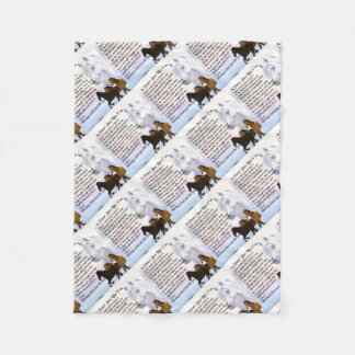 Horses  Sister Poem Fleece Blanket