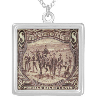 Horses Troops Postage Stamp Necklace