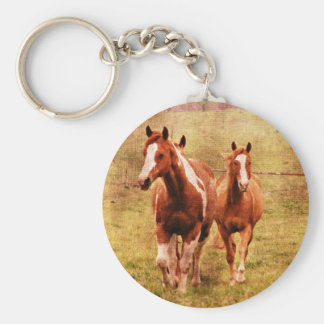 Horses Trotting Key Ring