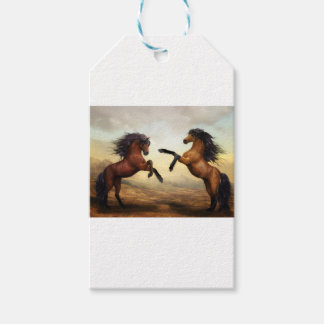 Horses Wild Horses Digital Art Nature Landscape Gift Tags