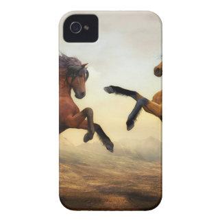 Horses Wild Horses Digital Art Nature Landscape iPhone 4 Cover