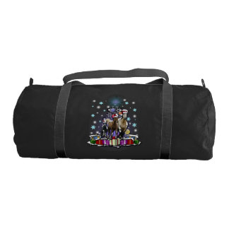 Horses with Christmas Styles Gym Bag